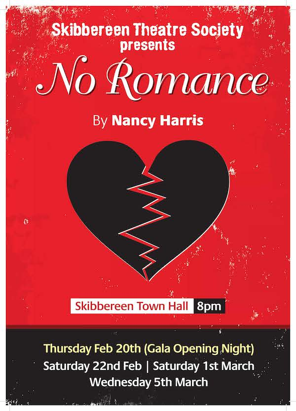 Poster for Skibbereen Theatre Society's 2014 production of No Romance
